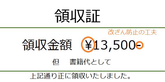 領収書の金額改ざん防止策―大字...