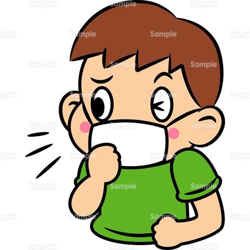 生活;風邪,かぜ,病気,ばい菌,マスク,人物, 風邪,かぜ,病気,ばい菌,マスク,人物,のイラス