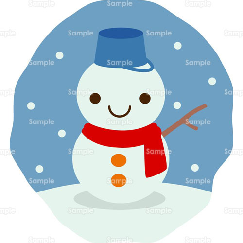 雪だるま,のイラスト(005_0210 ...