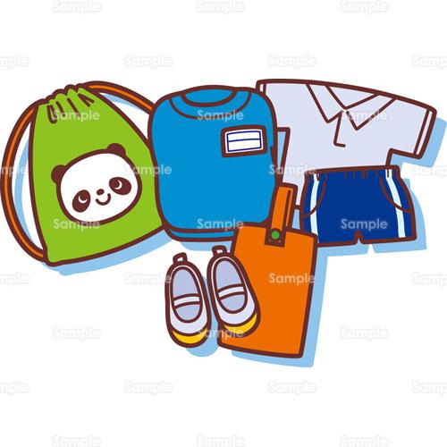 教育;上靴,体操服,持ち物,着替え,袋,体育, 上靴,体操服,持ち物,着替え,袋,体育,のイラス