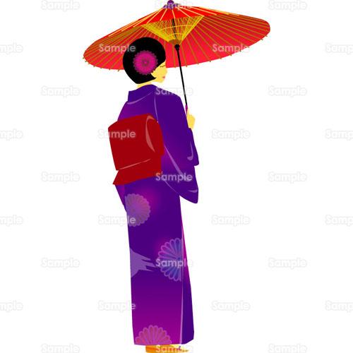 すべての講義 50 計算 : イラスト - 女性,着物,和服,和傘 ...