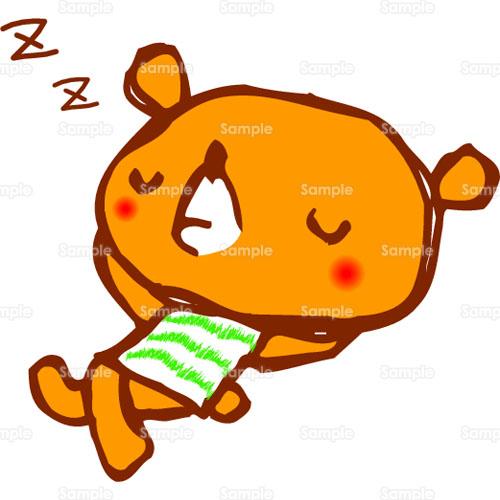 くま,熊,昼寝,のイラスト(087_0006 ...