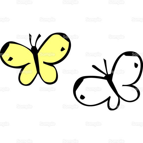 蝶 ちょうちょのイラスト ... : 春の塗り絵 無料 : 無料