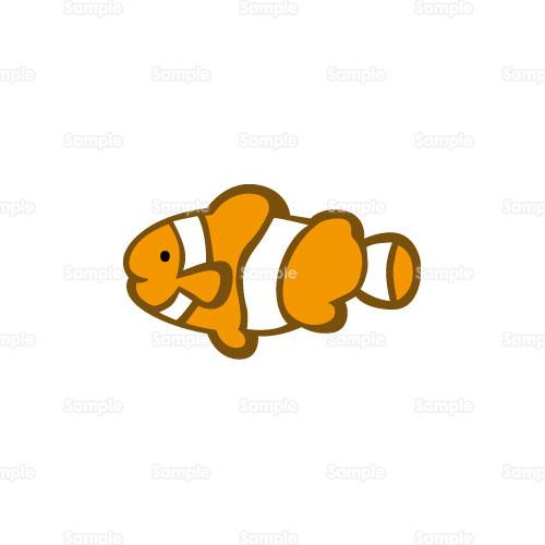 クマノミ,魚,熱帯魚,のイラスト ... : カード テンプレート 無料 名刺サイズ : カード