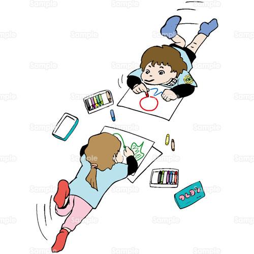 イラスト - 子供,お絵かき,遊び ...