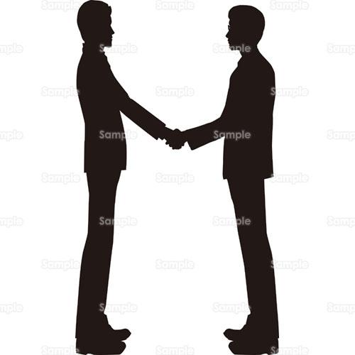 イラスト - 握手,挨拶,契約,成功 ... : 無料テンプレート素材 枠 : 無料