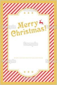 ポップなクリスマスカードのテンプレート素材無料
