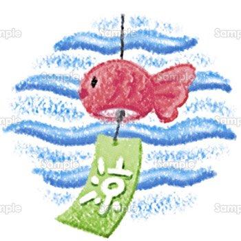 金魚の風鈴のテンプレート素材無料ダウンロードビジネス