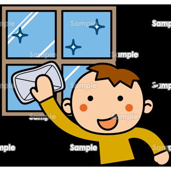 窓ふき掃除のテンプレート素材無料ダウンロードビジネス