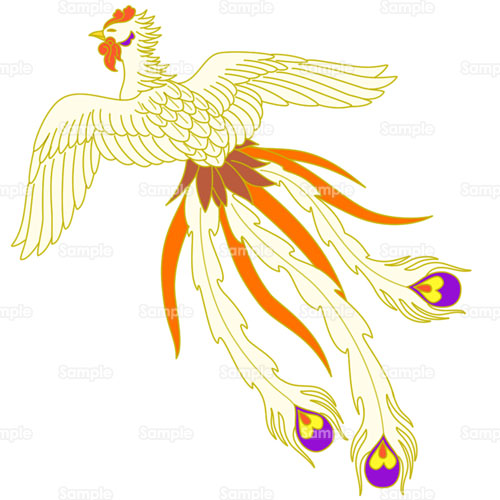 鳥鳳凰ほうおう中国のイラスト0010078 クリエーターズスクウェア