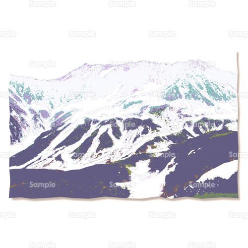 山登山自然雪山のイラスト0020012 クリエーターズスクウェア