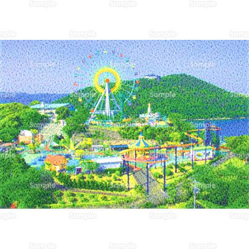 遊園地テーマパークのイラスト0020038 クリエーターズスクウェア