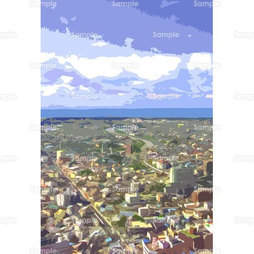 町並みのイラスト0020041 クリエーターズスクウェア