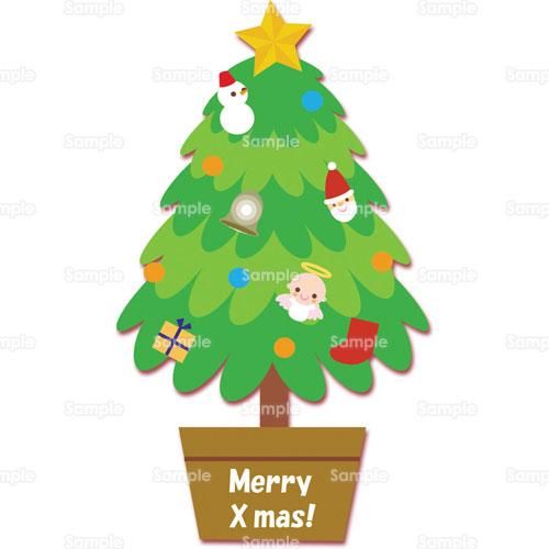 オーナメントクリスマスツリーツリーのイラスト0050023
