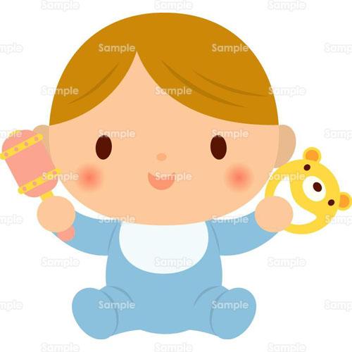 赤ちゃん赤ん坊ガラガラのイラスト0050232 クリエーターズスクウェア