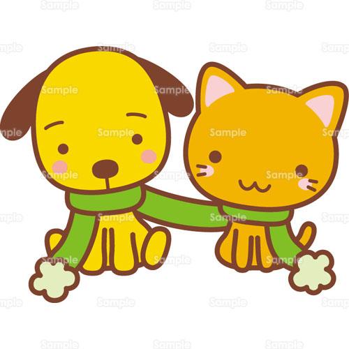 マフラー犬猫いぬねこのイラスト0050319 クリエーターズスクウェア