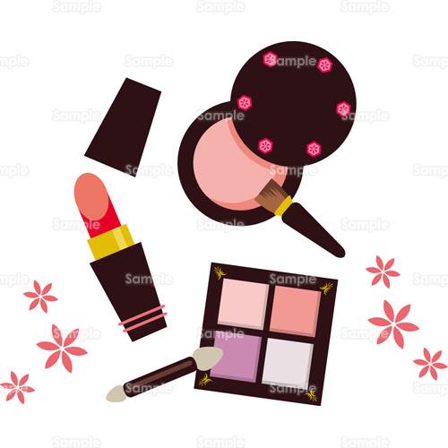 コスメコスメティック化粧品口紅アイシャドウのイラスト0050347