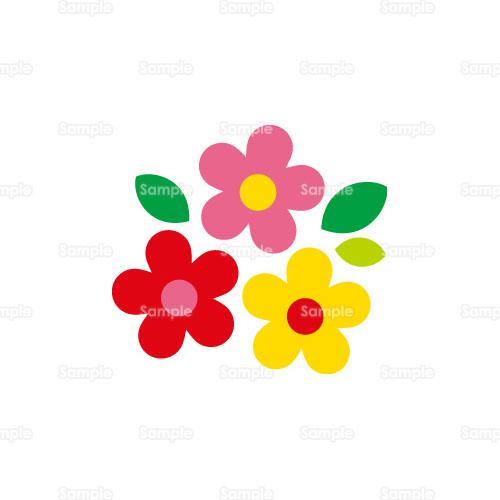 花フラワーデフォルメのイラスト0050369 クリエーターズスクウェア
