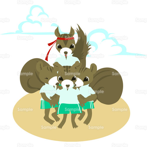 騎馬戦 りす のイラスト 019 0069 クリエーターズスクウェア