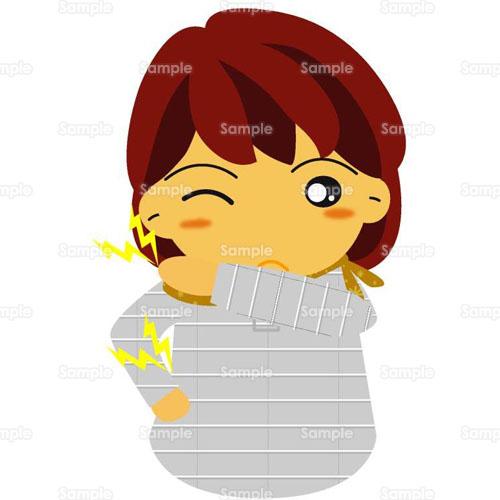 人物健康女性肩こり腰痛のイラスト0370020 クリエーターズ