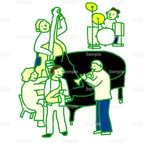 コンサートジャズピアノライブ楽器音楽のイラスト0400033