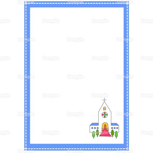 パステルカラー教会チャペルのイラスト0400118 クリエーターズ