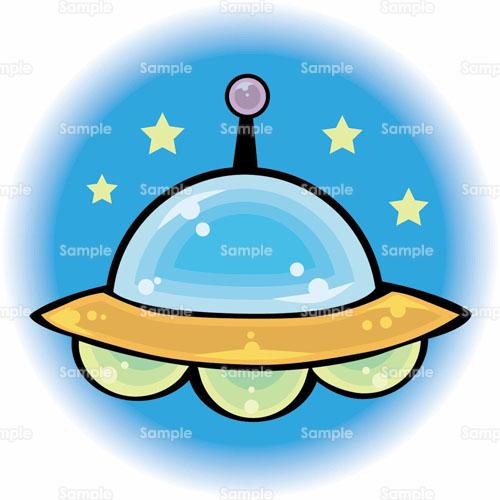 Ufo宇宙宇宙人宇宙船のイラスト0430003 クリエーターズスクウェア