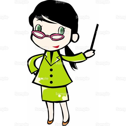 人物先生女の子女性眼鏡メガネのイラスト0430029
