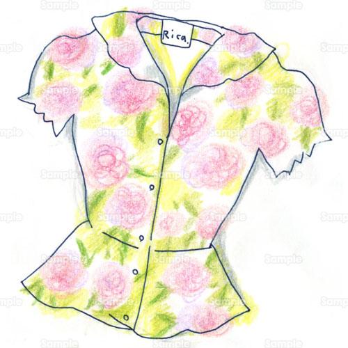 服,洋服,ブラウス,シャツ,花柄 ...