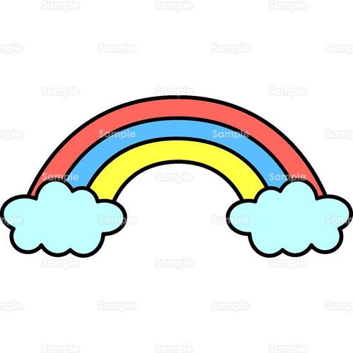 レインボー虹のイラスト0530054 クリエーターズスクウェア