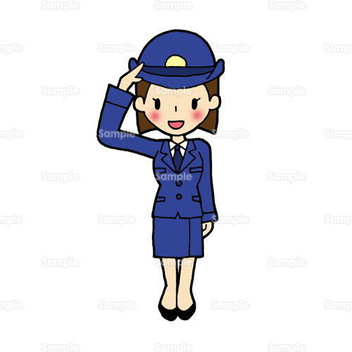 女性警察官,婦人警官,婦警,警察,警官,制服,おまわりさん,敬礼,の ...