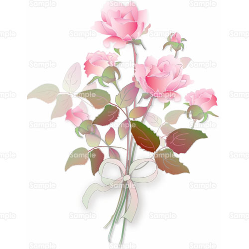 プレゼント薔薇バラ花花束のイラスト0730004 クリエーターズ