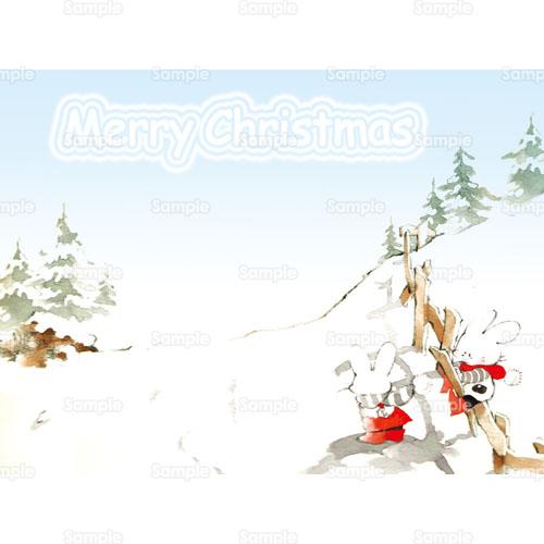 うさぎ雪もみの木柵兎のイラスト0740039 クリエーターズスクウェア