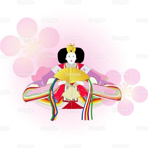 お雛様ひな人形雛人形おひなさまのイラスト0790021
