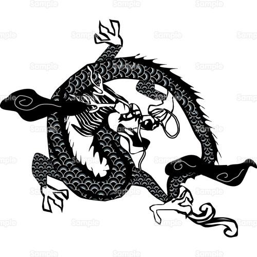 龍竜ドラゴン中国のイラスト0790026 クリエーターズスクウェア