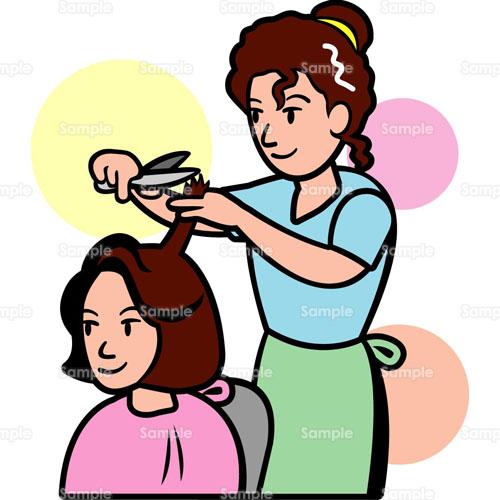 美容院ヘアーカット散髪ヘアーサロン職業のイラスト0880066
