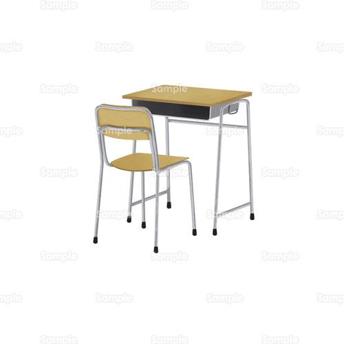 学校の机と椅子のイラスト イラスト無料かわいいテンプレート