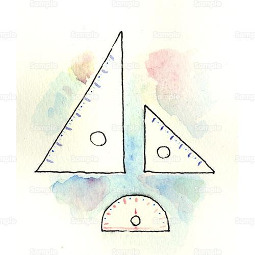 三角定規分度器文房具算数のイラスト1110051 クリエーターズ