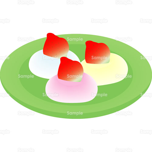 いちご苺大福お菓子おやつのイラスト1200054 クリエーターズ