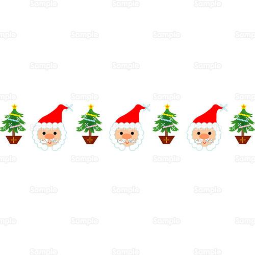 サンタサンタクロースクリスマスツリーツリーもみの木のイラスト
