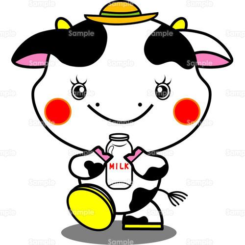 ウシ牛牛乳のイラスト1220025 クリエーターズスクウェア