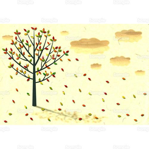 紅葉落ち葉枯れ葉木のイラスト1230004 クリエーターズスクウェア