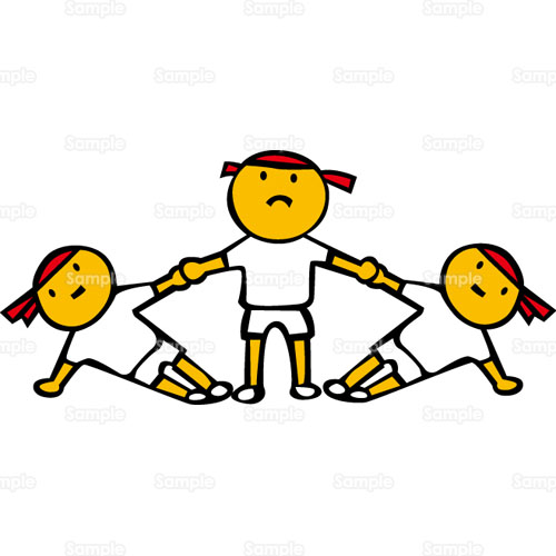 組体操組み体操組み立て体操組立体操のイラスト1240092