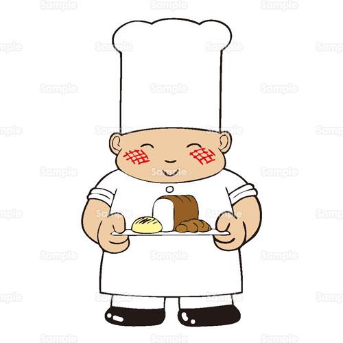 パン屋パン屋さんベーカリー食パンメロンパン帽子のイラスト