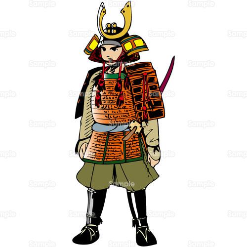 武者武士鎧よろい兜かぶと戦国時代のイラスト1780060