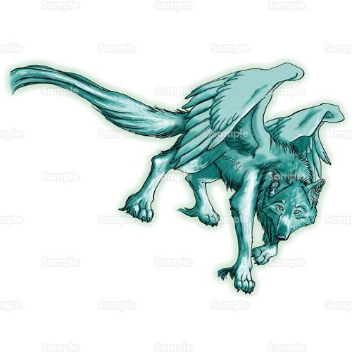 狼オオカミ翼羽根のイラスト1800017 クリエーターズスクウェア