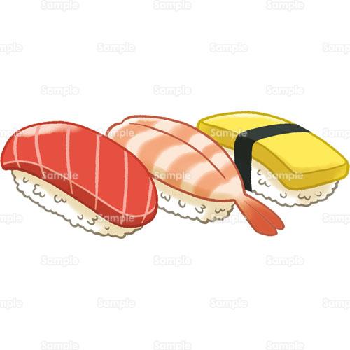 すし寿司鮨にぎりまぐろえび玉子たまご和食日本食のイラスト