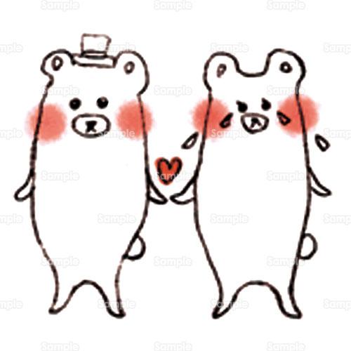 熊くま白熊白くまシロクマしろくまのイラスト1980024