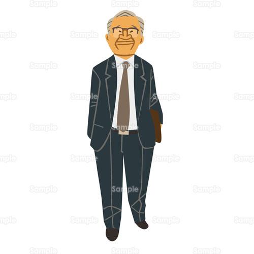 男性会社員中高年中年スーツのイラスト2010051 クリエーターズ
