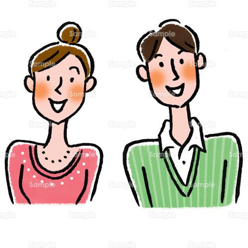 男性女性夫婦カップルのイラスト2020003 クリエーターズスクウェア